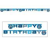 """Buchstaben-Girlande """"Max Steel"""" Happy Birthday 1,8 m"""