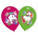 """Bunt bedruckte Luftballons """"Kleines Einhorn"""" 6er Pack"""