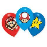 """Bunt bedruckte Luftballons """"Super Mario"""" 6er Pack"""