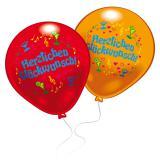 """Bunte Ballons """"Herzlichen Glückwunsch"""" 8er Pack"""