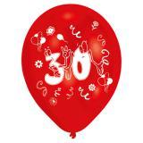 "Bunte Luftballons ""30. Geburtstag Party"" 8er Pack"