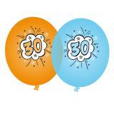 "Bunte Luftballons ""30. Geburtstag"" 8er Pack"