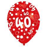 "Bunte Luftballons 40. Geburtstag ""Bubbels"" 6er Pack"