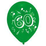 "Bunte Luftballons ""60. Geburtstag Party"" 8er Pack"