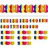 Bunte Papier-Girlande Zahlen 6 m
