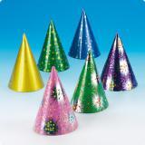 Bunte Party-Hütchen 6er Pack