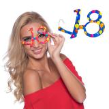 """Bunte Partybrille """"18. Geburtstag"""""""