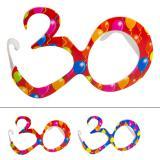 """Bunte Partybrille """"30. Geburtstag"""""""