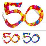 """Bunte Partybrille """"50. Geburtstag"""""""