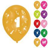 """Bunte Luftballons """"Geburtstagsspaß"""" 8er Pack"""