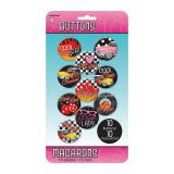 "Button-Set ""Rockin' the 50s"" 10er Pack"