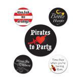 """Buttons """"Piraten"""" 5er Pack"""