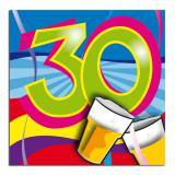 Cocktailservietten Partyspaß 30. Geburtstag 20er Pack
