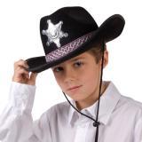 """Cowboyhut """"Sheriff"""" für Kinder-schwarz"""