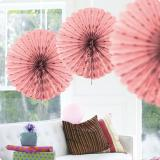 Deckendeko Fächer aus Wabenpapier 45 cm-rosa