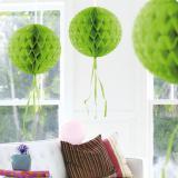"Deckenhänger ""Ball aus Wabenpapier"" 30 cm-apfelgrün"