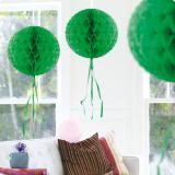 """Deckenhänger """"Ball aus Wabenpapier"""" 30 cm-grün"""