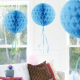 "Deckenhänger ""Ball aus Wabenpapier"" 30 cm-hellblau"