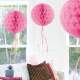 """Deckenhänger """"Ball aus Wabenpapier"""" 30 cm-rosa"""