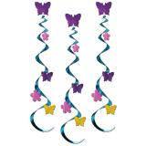 "Deckenhänger ""Blumen & Schmetterlinge"" 76 cm 3er Pack"