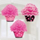 """Deckenhänger """"Flauschige Cupcakes"""" 26,6 cm 3er Pack"""