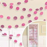 "Deckenhänger ""Punktespaß"" 6er Pack-rosa"