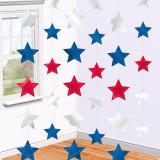 """Deckenhänger """"Stars USA"""" 6er Pack"""