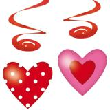 "Deckenhänger ""Sweet Love"" 80 cm 4er Pack"