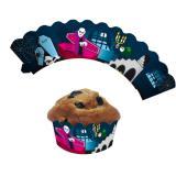 """Deko-Banderolen für Muffins """"Halloween"""" 12er Pack"""