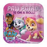 """Eckige Pappteller """"Paw Patrol for Girls"""" 8er Pack"""