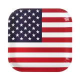 "Eckige Pappteller ""USA"" 10er Pack"