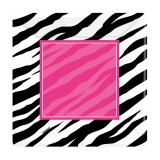 "Eckige Pappteller ""Stylischer Zebra-Look"" 8er Pack"