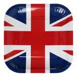 """Eckige Pappteller """"Union Jack"""" 10er Pack"""