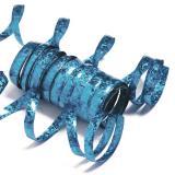 Einfarbige Glitzer Luftschlangen-karibik-blau