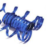 Einfarbige Glitzer Luftschlangen-blau