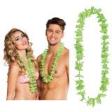 Einfarbige Hawaii Blumenketten 25er Pack-grün