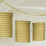 Einfarbige Laternen-Girlande 360 cm-gold