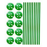 Einfarbige Luftballonstäbe mit Halterung 10er pack-grün