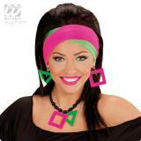 Einfarbige Neon-Stirnbänder 2er Pack