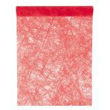Einfarbiger Deko-Vlies Tischläufer 5 m-rot