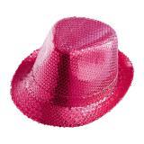 Einfarbiger Pailletten-Hut -pink