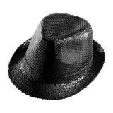 Einfarbiger Pailletten-Hut -schwarz