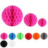 Einfarbiger Wabenpapier-Ball 2er Pack