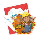 """Einladungskarten """"Bob der Baumeister - Neue Abenteuer"""" mit Umschlag 6er Pack"""