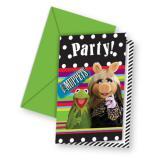 """Einladungskarten """"Die Muppets"""" mit Umschlag 6er Pack"""