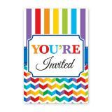 """Einladungskarten """"Farbenfroher Geburtstag"""" mit Umschlag 20er Pack"""