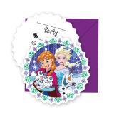 """Einladungskarten """"Frozen - Schneegestöber"""" mit Umschlägen 6er Pack"""