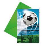 """Einladungskarten """"Fußballspaß"""" mit Umschlag 6er Pack"""