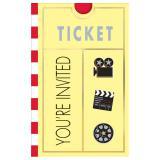 Einladungskarten Hollywood 8er Pack