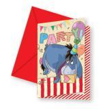 """Einladungskarten """"Honigsüßer Winnie Puuh"""" I-Aah mit Umschlag 6er Pack"""